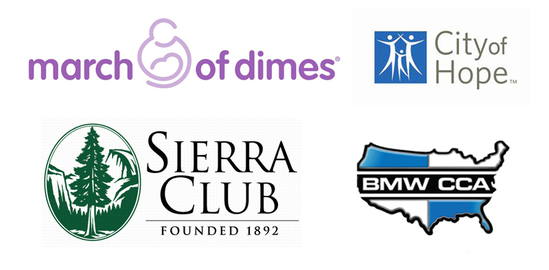 images of various charitable organizations